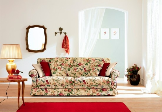 Divani classici - divano provenzale tessuto a fiori ...