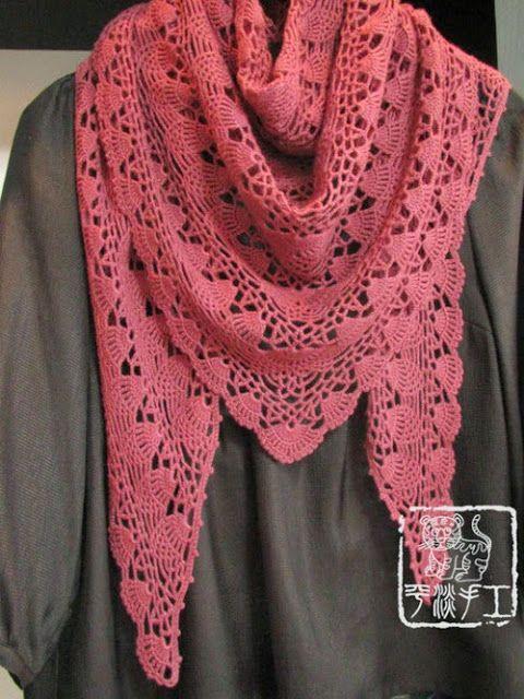 crochet home: pineapple shawl