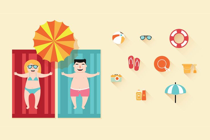 Some more illustrations for beach Check out the Behance project here: https://www.behance.net/hitjoker1