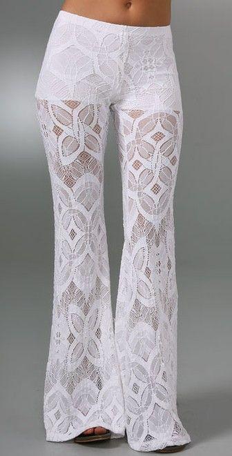 Nightcap x Carisa Rene Lace Bell Bottom Pants