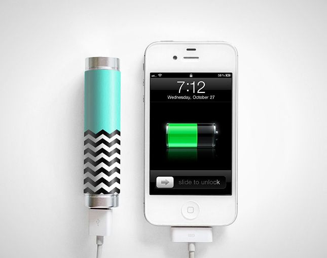 This chevron portable external battery is adorable.