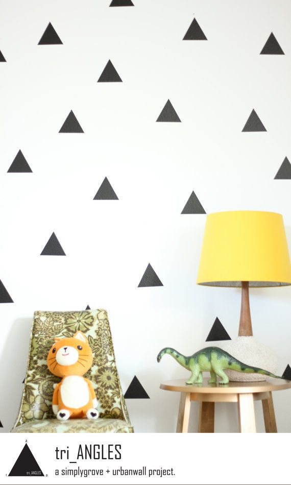 Vinyl Wall Sticker Decal Art Triangles by urbanwalls on Etsy