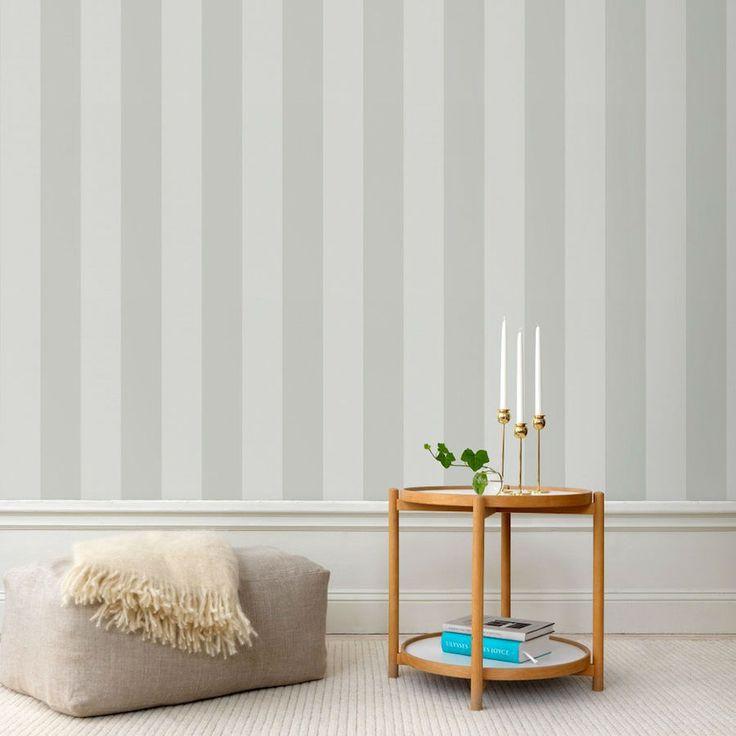 tienda online telas & papel | Papel pintado rayas Magnus gris clarito
