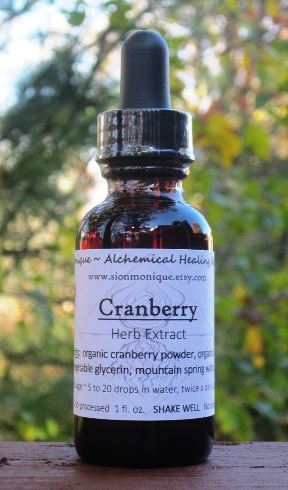 CRANBERRY Organic Herbal extract ALCOHOL-FREE Tincture