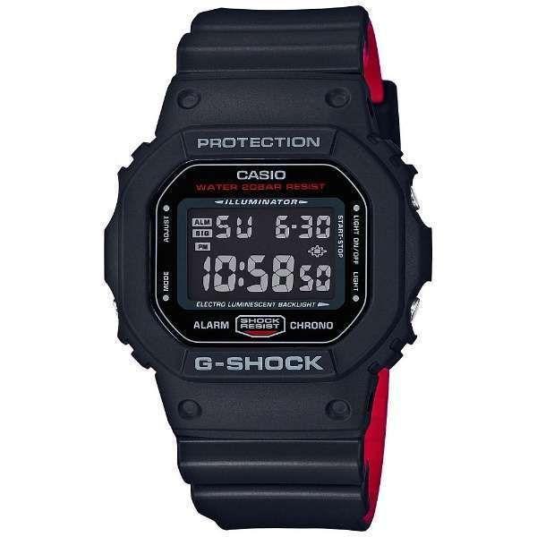 Casio G-Shock Classic 2-Tone Layer Black/Red Digital Watch DW5600HR-1