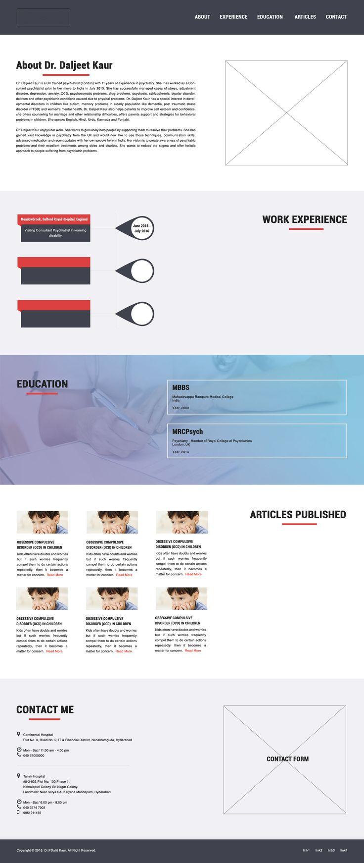 medical website onepage