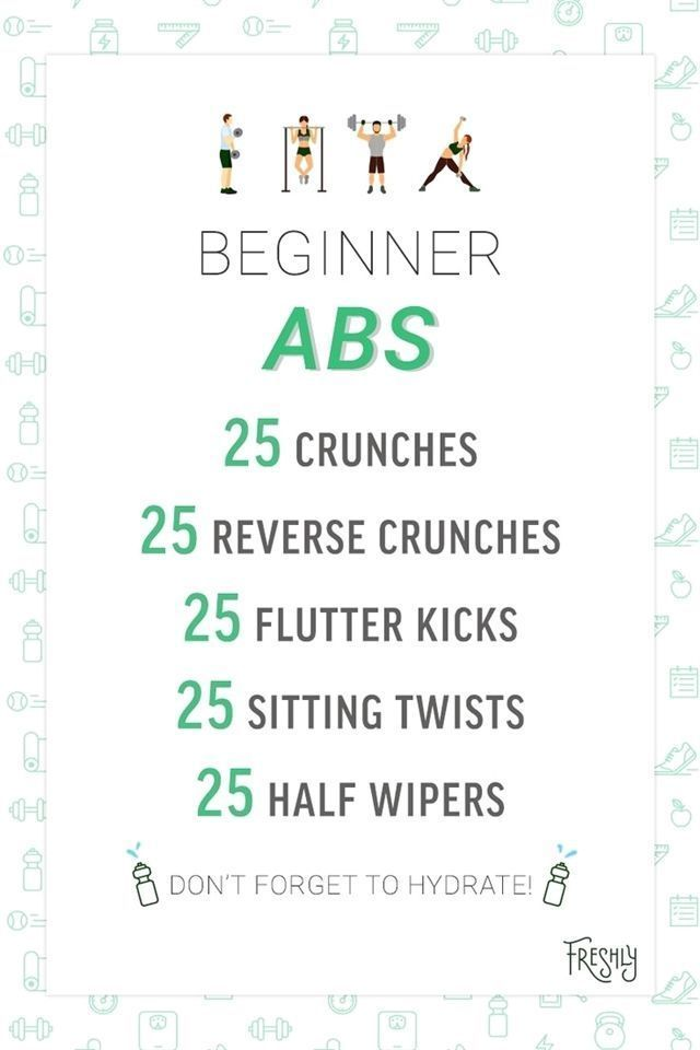 The key to progress is practice  This beginner abs workout