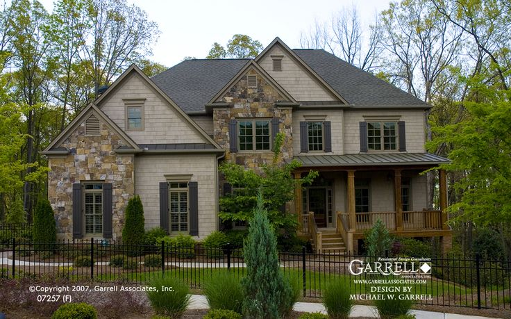 traditional two story house exterior colors - I'm not sure about the placement of the stonework, but overall I really like it.