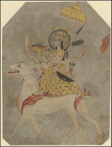 Miniatures - Hindu Goddess, Durga