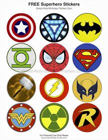Free cupcake topper - avengers superheroes