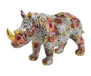"""Figurka dekoracyjna """"Rhino Kawai"""", 25 x 9 x 15 cm"""