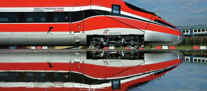 Frecciarossa 1000 is our brand new train thtat permitt you travel from Rome to Milan in 2h and 20minutes.It will have 447 seats and has low pollution level. It costed 30 million of Euro and it will start running from 2015.