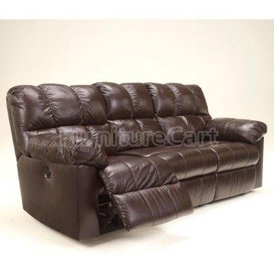 Kennard Chocolate Reclining Sofa W/ Power