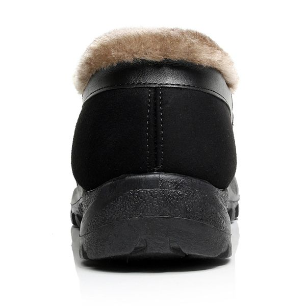 Snow Boots Winter Men Fur Lining Cotton Keep Warm Casual Outdoor Flats - US$24.99