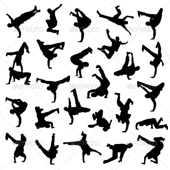 Break Dance Silhouettes | Teenagers, Adobe and December