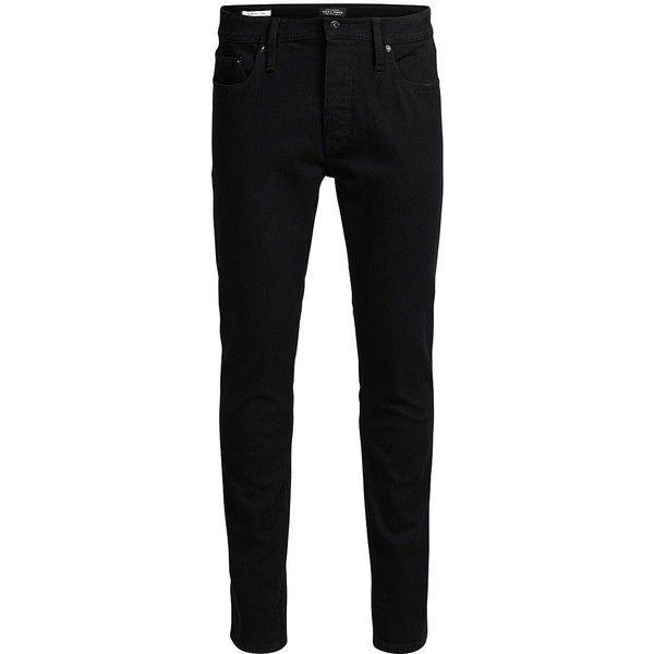 Jack & Jones Men's Tim J Original Slim-Fit Jeans ($80) ❤ liked on Polyvore featuring men's fashion, men's clothing, men's jeans, black, mens jeans, mens zipper jeans, mens slim cut jeans, mens slim fit jeans and mens slim jeans