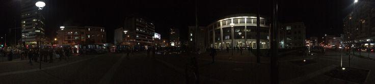 El centro de Concepción de noche (Panorámica)