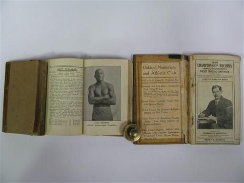 Lot 141  Police Gazette Boxing Records 1900-09. Three original volumes each missing covers and rebound but complete, includes good photographs of Jack Johnson. (3)  Estimate $120-180  Boxing History - The John Roberts Collection, Part I - Sale 8069 - Lot 141 - Lawsons - Auctioneers, Sydney and Melbourne