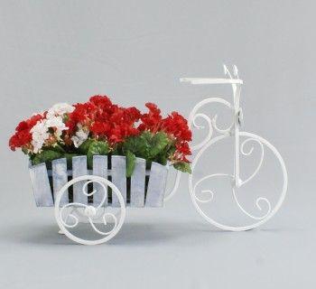 Подставка под цветы велосипед маленький