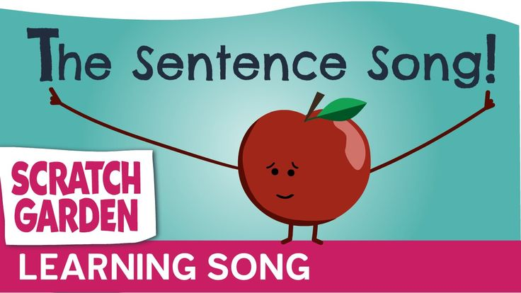 The Sentence Song by the Scratch Garden. Great way for students to learn to write sentences. For more Kindergarten Videos Visit: https://www.pinterest.com/eclearning/kindergarten-videos/