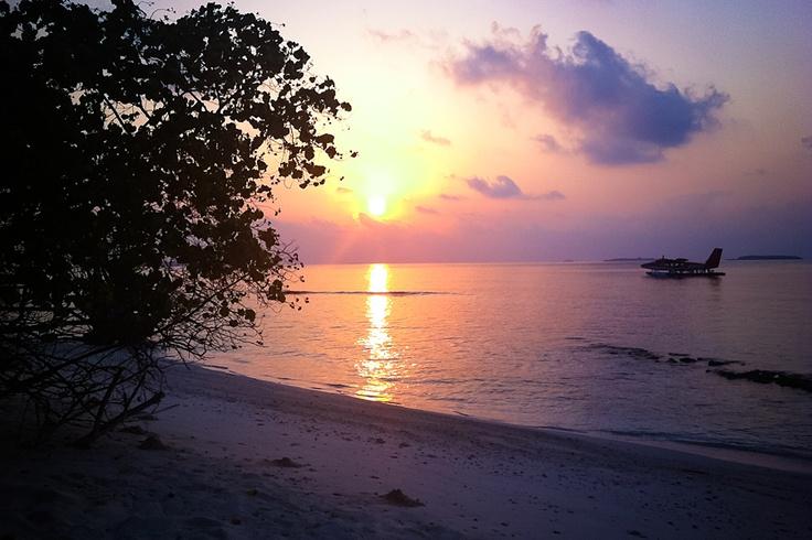 Sunrise at Muddhoo beach , Dusit Thani Maldives