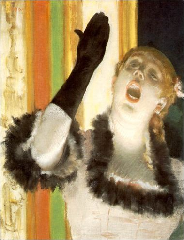 Singer with a Glove by Edgar Degas