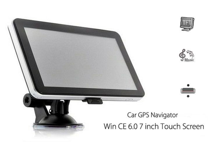 704 Win CE 6.0 7 inch Car GPS Navigation Navigator AV North America Map Black - Tmart  #auto #moto #car #accessories