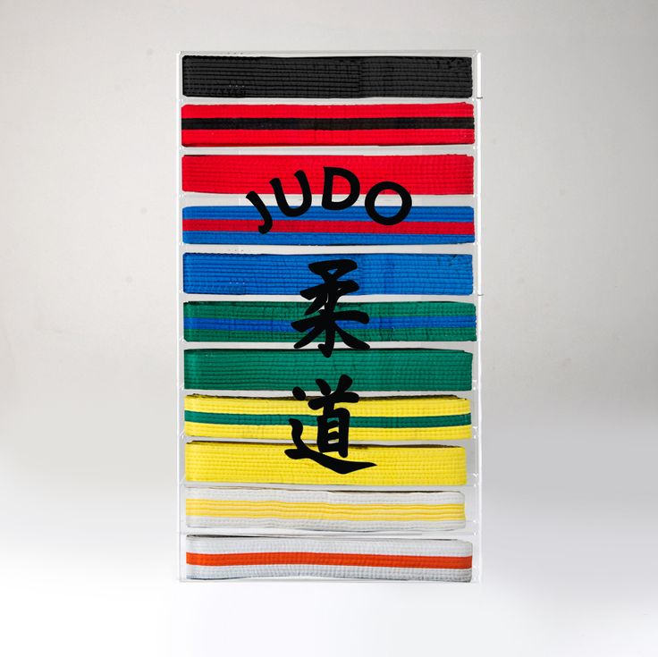 Awesome Judo belt display case to show off all your martial arts belts! Can be wall mounted or sit on a table. Designed and manufactured in the UK