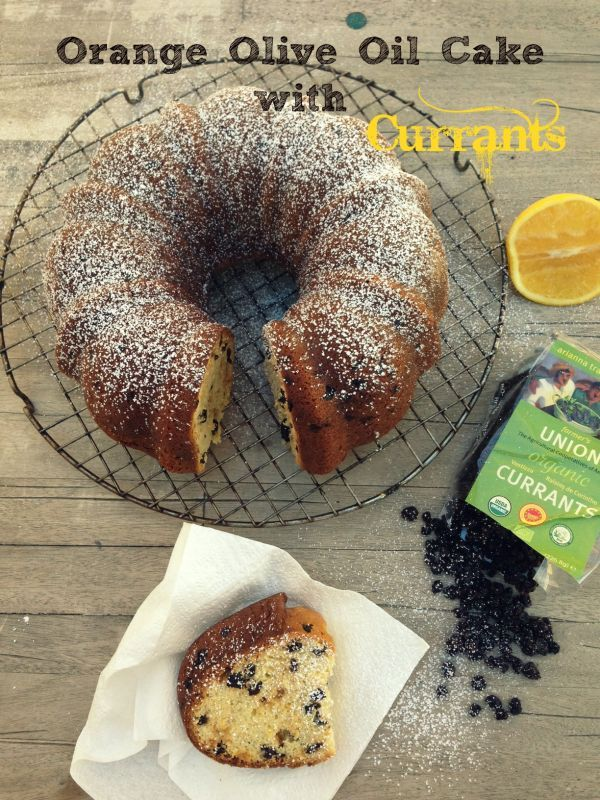 Orange Olive Oil Bundt Cake with Currants from California Greek Girl. And a funny story about Greeks and bundt cakes!