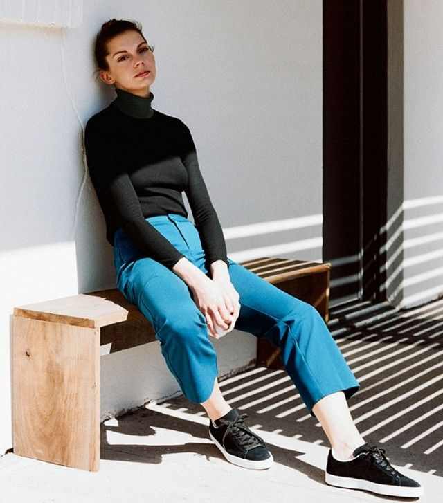 Uniqlo Hana Tajima Ponte Ankle Length Trousers (£30).
