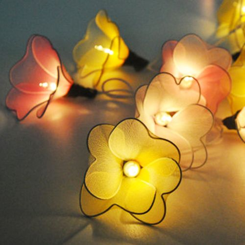 Fall Color String Lights : 17 Best images about Crafts ~ Flower Making on Pinterest String lights, Shabby chic and Flower