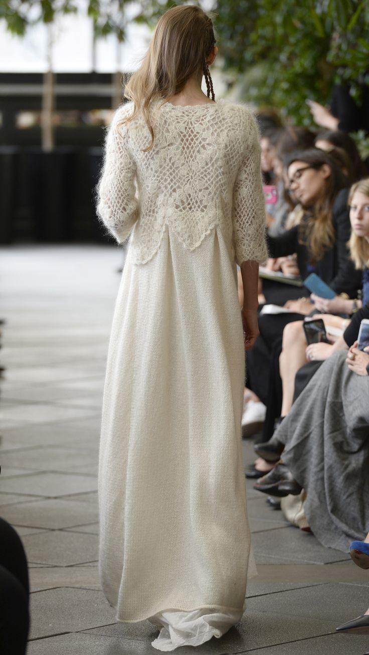 Gorgeous backs   Delphine Manivet Bridal Fall 2015 via @stylelist