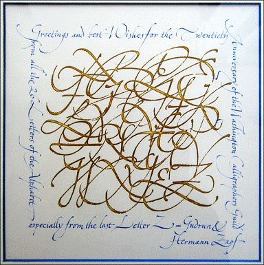 All 26 Letters Of The Alphabet By Hermann Zapf Lettering