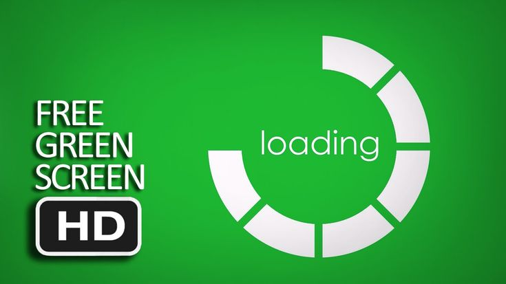 Free Green Screen - Holographic Loading Circle
