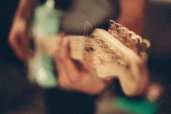 Fender Stratocaster, surf green and brass hardware. Shimmer, Shake, Vibrato! Instrument Hire www.acebros.co.uk