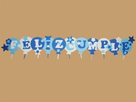 cartel goma eva globitos feliz cumple para nenes
