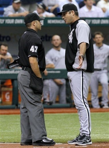 Game 51 - May 30 | Rays 3 White Sox 4 | 29-22 | Rays hit Gordon Beckham and WWF-style heel AJ Pierzynski. Sox throw at Zobrist. Quintana and Ventura get tossed.  Ugly game. White  Sox sweep Rays.