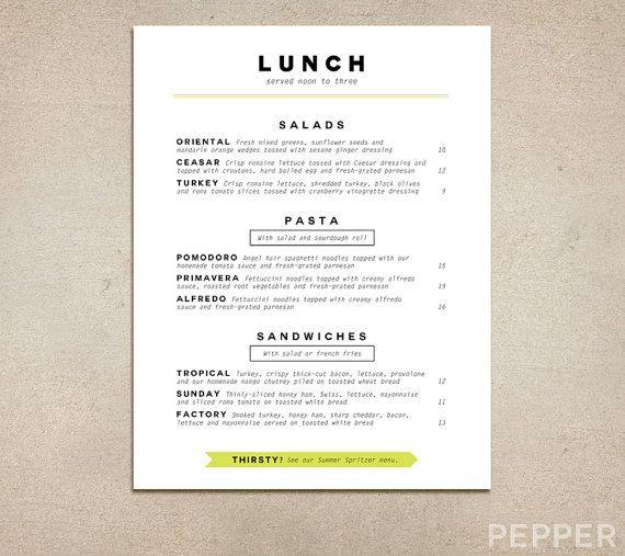 13 best Pepper Menu Design images on Pinterest Menu design - free printable restaurant menu template