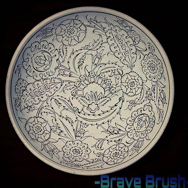 #dekor #design #dizayn #cizim #art #çini #firca #tahrir #iznik #tile #nicea #draw #bravebrush #sanat #instalike #instagood #instaart #bravebrush #work #handmade #kase #bowl