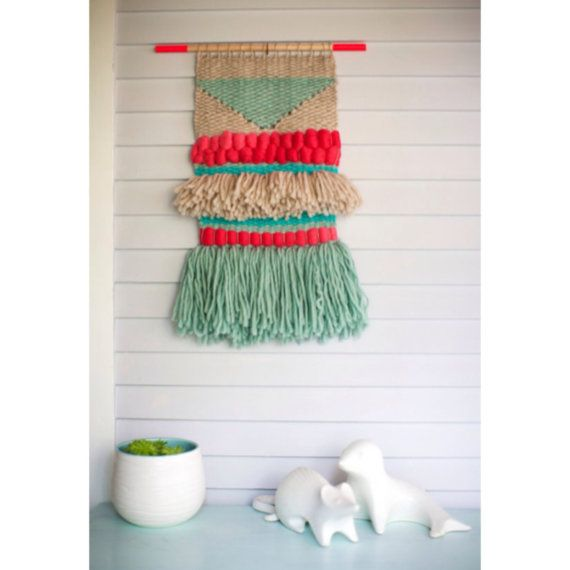 Custom Hand Woven Wall Hanging by SmoothHillsWeaving on Etsy, $125.00