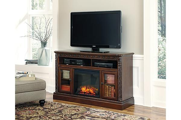 The North Shore 60 Quot Tv Stand With Fireplace From Ashley