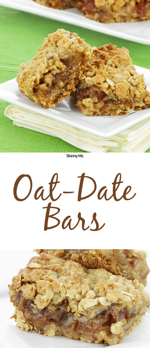 These Oat-Date Bars are perfectly sweet and pack a punch of energy!