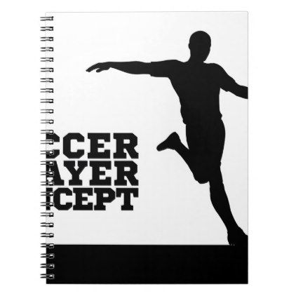 #Soccer Football Player Concept Silhouette Notebook - #office #gifts #giftideas #business