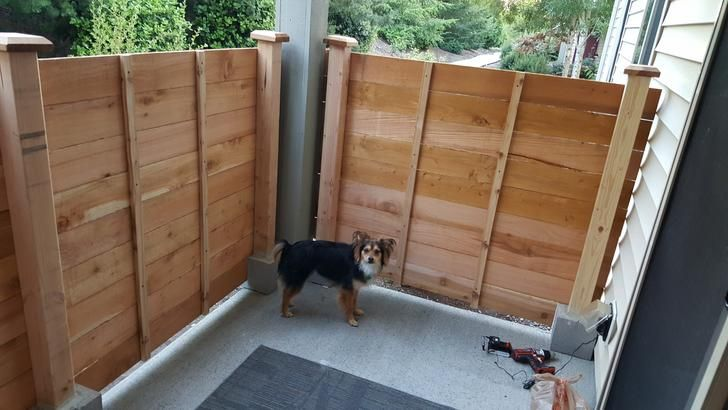 My First Real Project A Free Standing Fence For An Apartment Patio Patio Fence Apartment Patio Apartment Patio Gardens