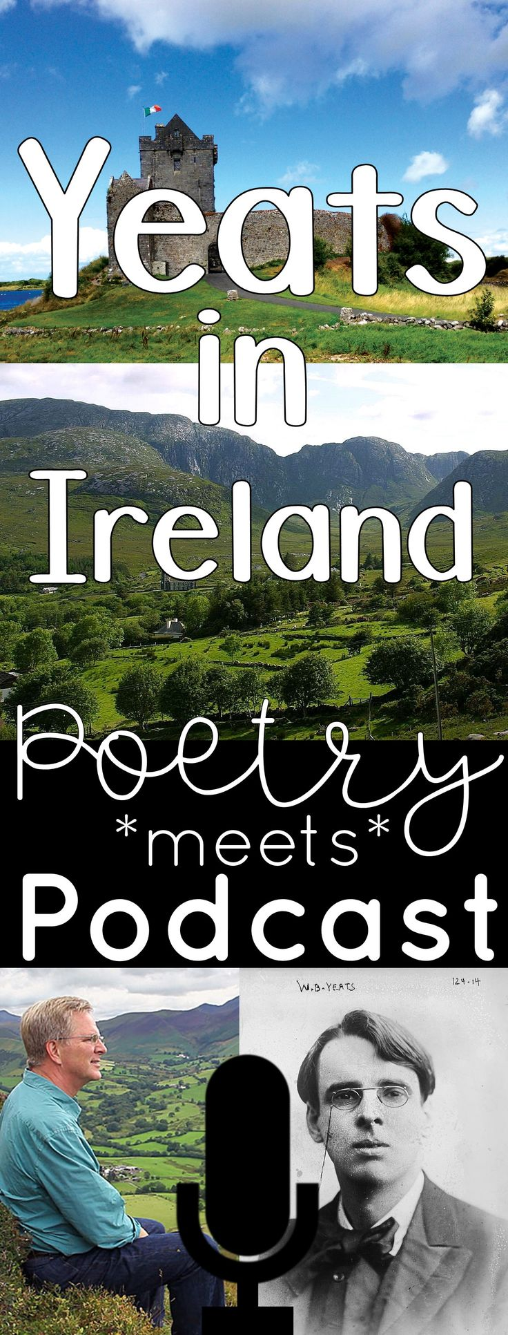 William Butler Yeats: Poetry meets Podcast. Students use critical listening skills to compare The Lake Isle of Innisfree with an engaging informational text. This makes a great St. Patrick's Day activity for high school and middle school!