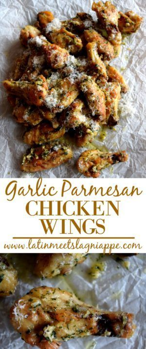 Tasty Garlic Parmesan Chicken Wings - perfect for snacks, or dinner...or both!!