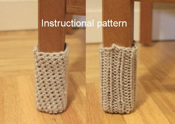 This pattern shows you how to make chair socks in both knit and crochet styles. Chair socks are decorative and useful. They give ordinary chairs a pop