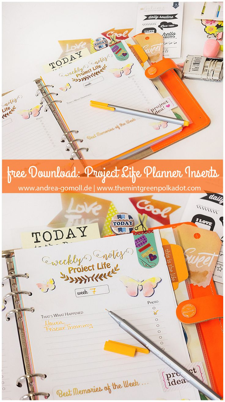 Creative Creations by Andrea Gomoll | Project Life Tracker – free Planner Inserts | http://andrea-gomoll.de