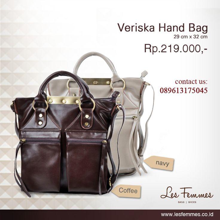 Veriska Hand Bag 219,000 IDR #Fashion #Woman #bag shop now on http://www.lesfemmes.co.id/products?search=veriska