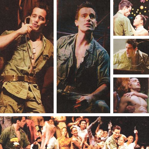 Ramin in Miss Saigon as Chris. Ramin in a uniform